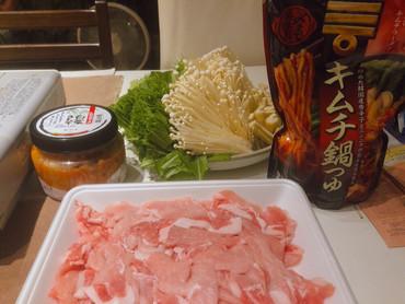 キムチ鍋、〆ラーメン