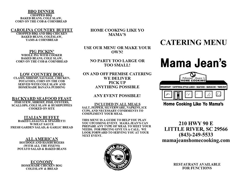 Mama Jean's HOme Cooking North Myrtle Beach Little River