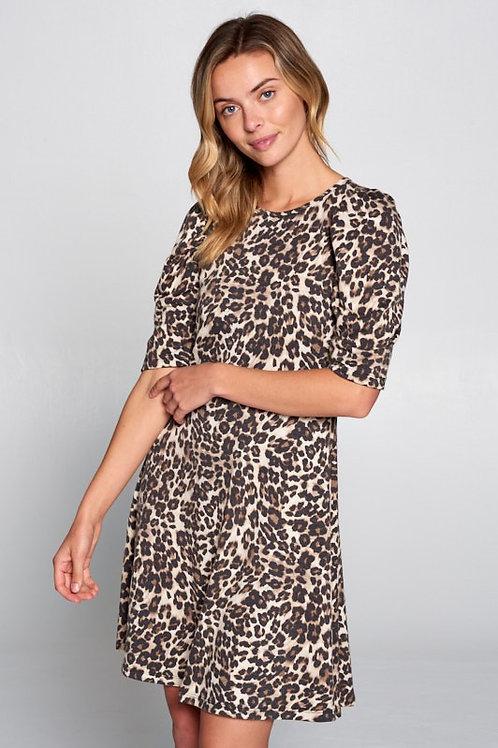 Vestido suelto animal print