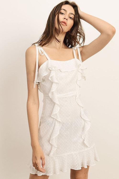Vestido blanco caida
