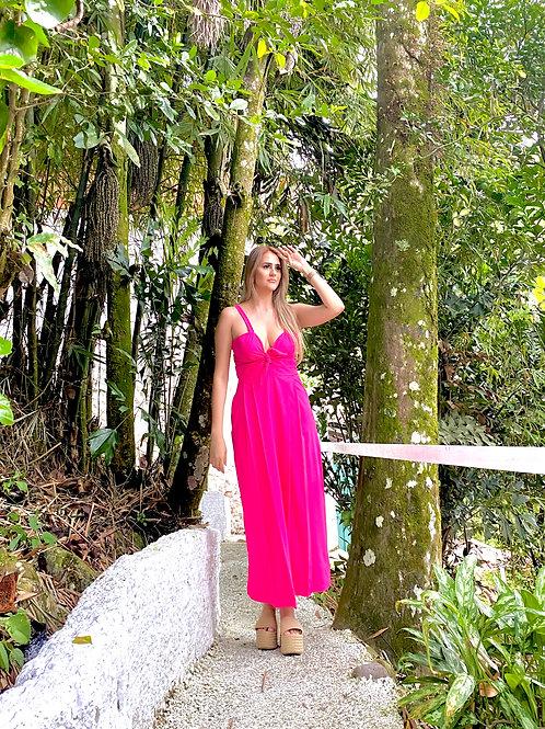 Vestido fucsia vibrante AMB
