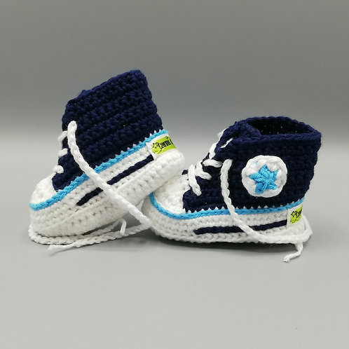 Babyschuhe Dunkelblau/Hellblau