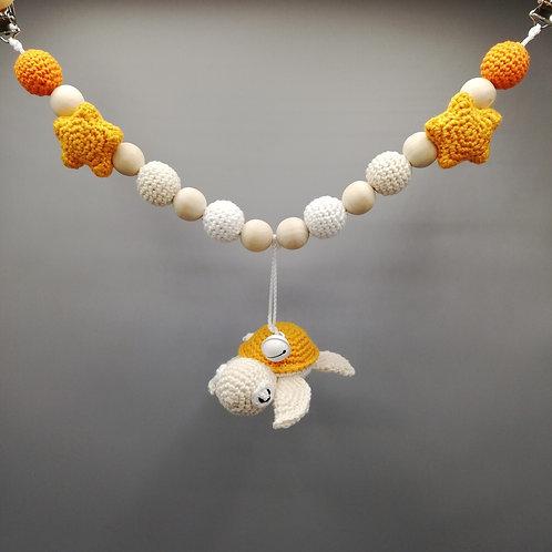 Kinderwagenkette Schildkröte Orangetöne