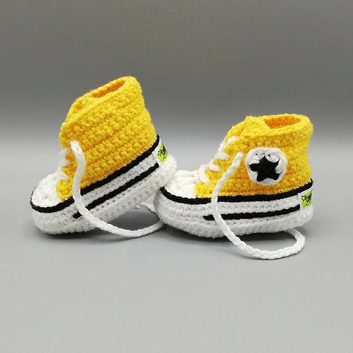 Babyschuhe Gelb