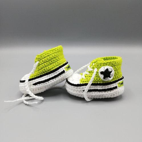 Babyschuhe Grasgrün