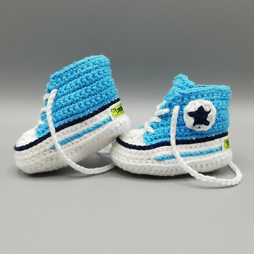 Babyschuhe Hellblau