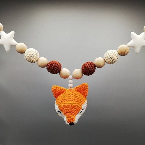 Kinderwagenkette Fuchs orange