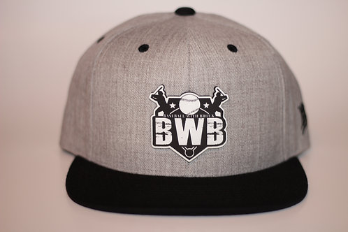 Baseball With Brock logo snap back hat