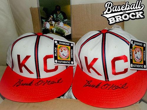 """Buck"" O'Neill autographed Kansas City Monarchs hat(s)"