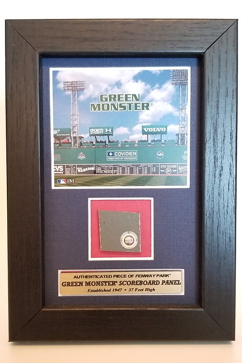 "Boston Redsox ""Green Monster"" plaque"