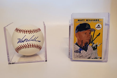 Matt Williams autographed Baseball & Baseball card