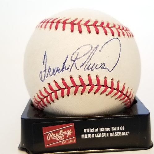 Frank Robinson autographed MLB baseball