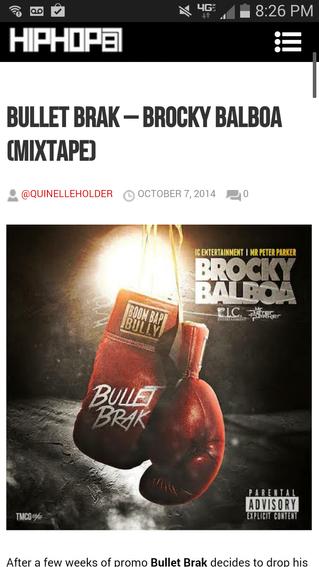 "New Mixtape ""Brocky Balboa"" on HHS1987"