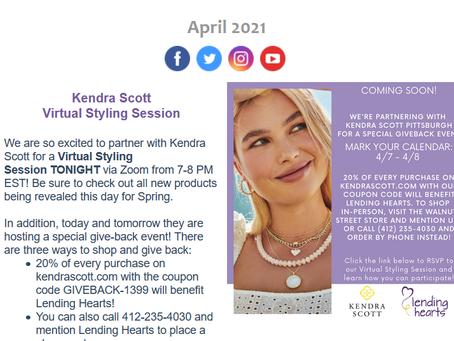 The Kendra Scott Virtual Styling Session is Tonight!!! 😍