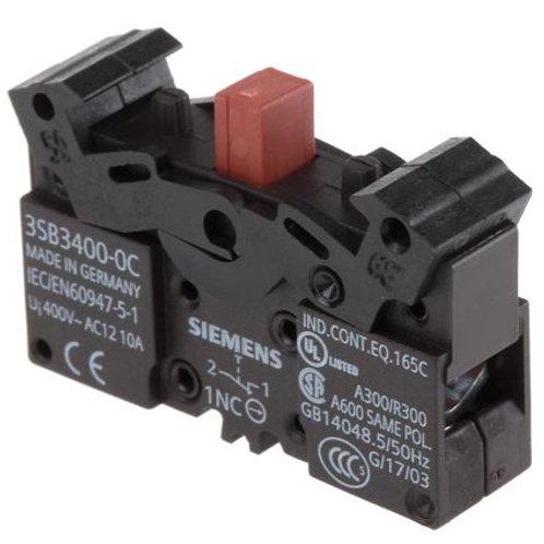 SIEMENS Contacto Auxiliar (Contact Block) - 3SB3400-0C