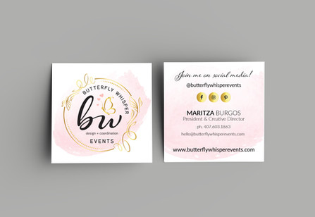Butterfly Whisper Events Business Cards