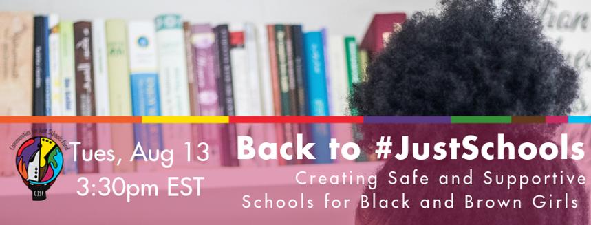 Back To Just Schools 2019 Webinar Banner