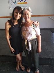 Evangelizadora Wandeilma e a nossa fundadora do Centro Dona Maria Aparecida Teodoro