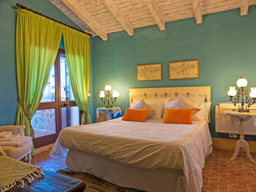 bedroom in villa in Italy