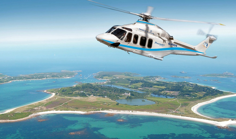 Scilly helicopter