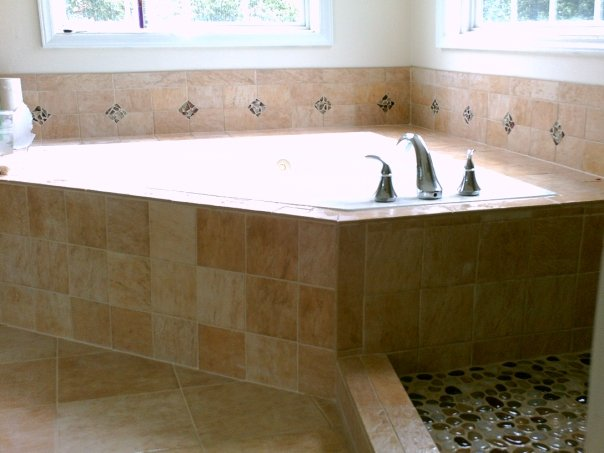 Betts Designs stone tile install