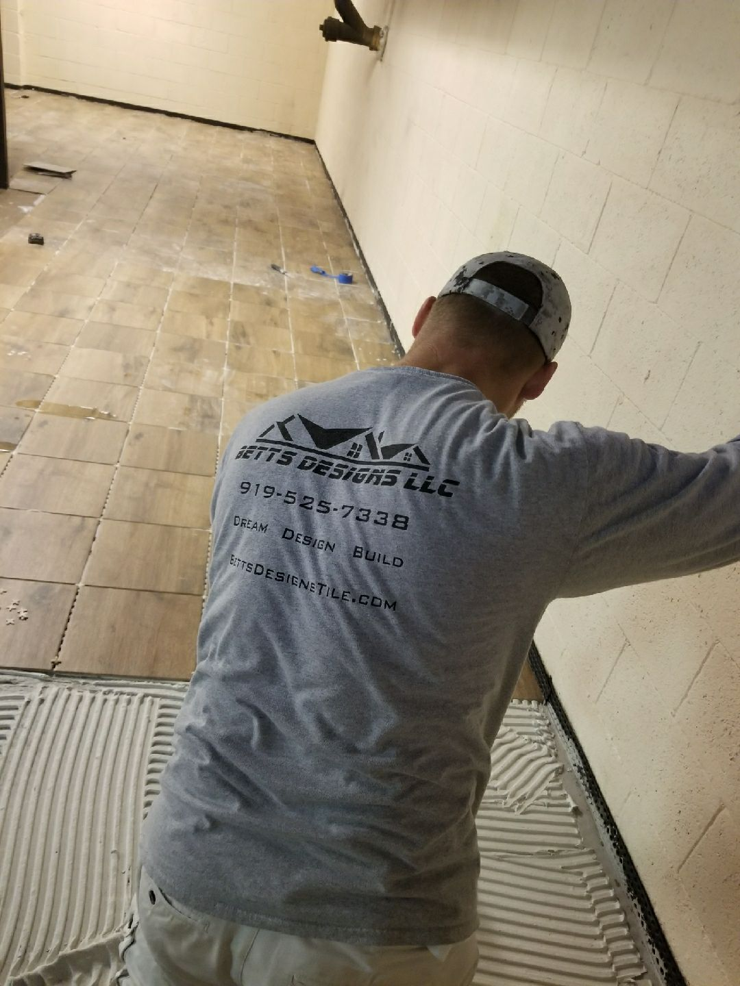 Betts Designs tile installation