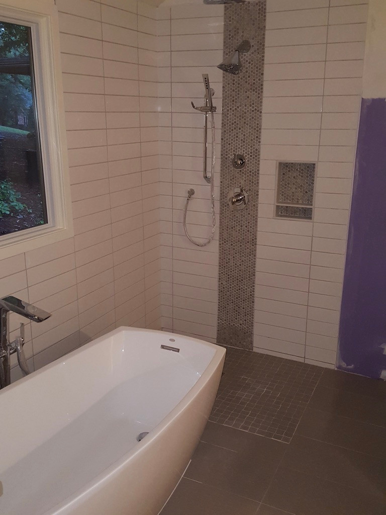 Curb-less Accessible Shower