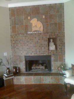 Tile Fireplace Installation Raleigh