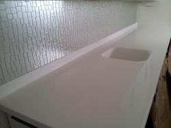 Handcrafted Glass tile backsplash