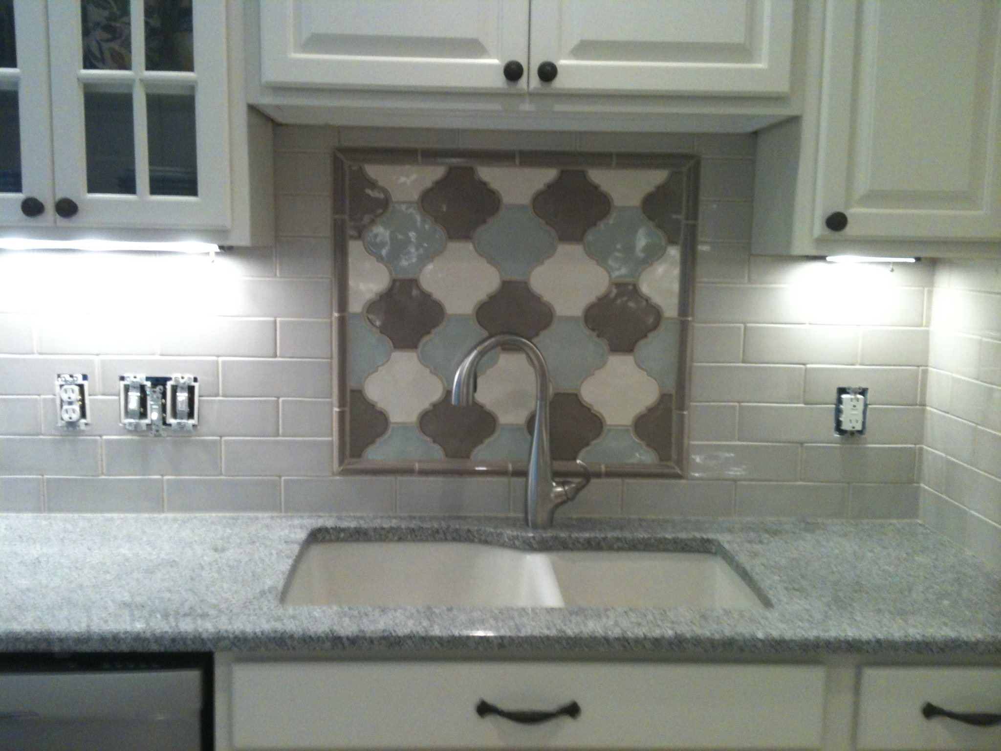 Mosaics tile backsplash Installation