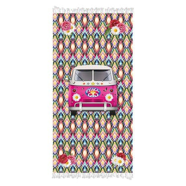 Handdoek - Hippie Van  Aqualicious- met franjes