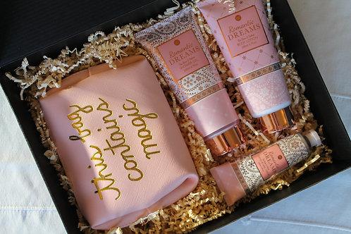 Badset  - Romantic Dreams Beauty Bag Goud/Roze