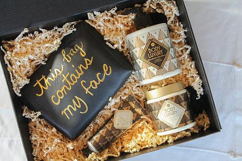 Badset - Body Luxury -  Beauty Bag zwart/goud