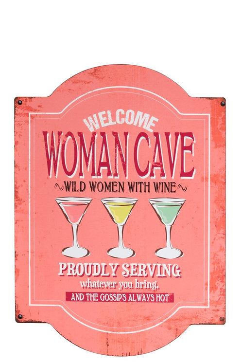 Women Cave Metaalbord roze J-Line