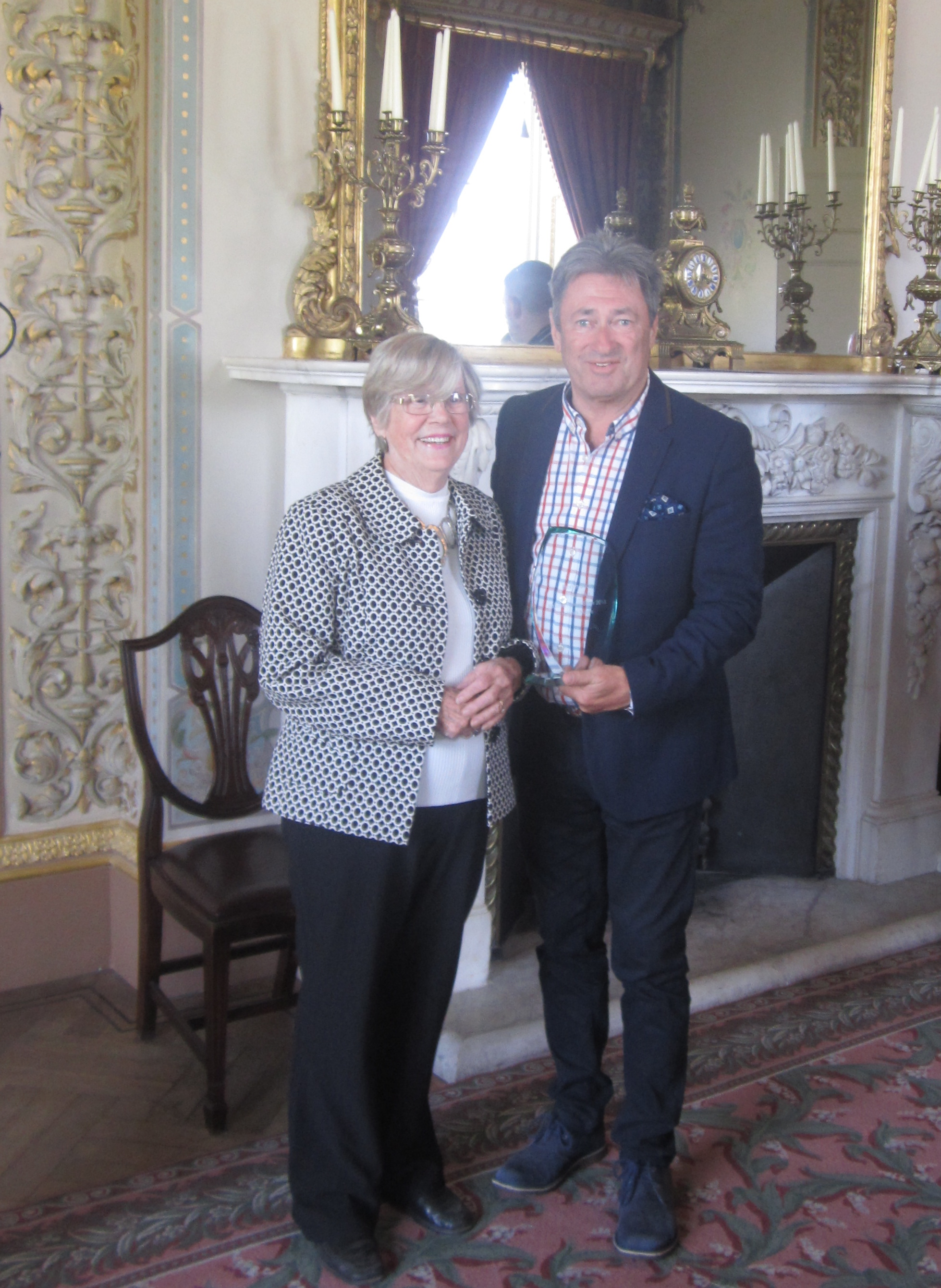 Alan Titchmarsh with Irene Bowkett