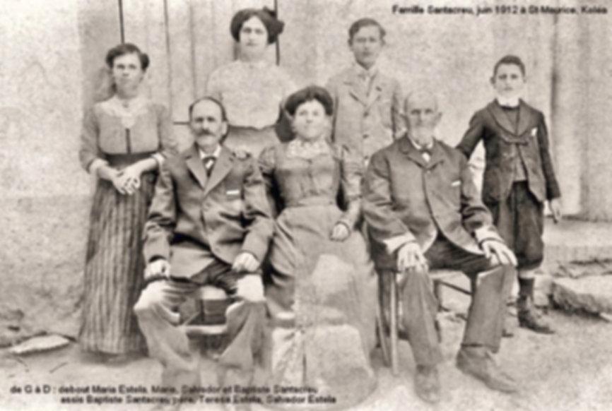 Famille Santacreu (juin 1912), source archives familiales