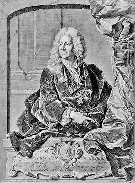Portrait gravé de Louis de Boullongne