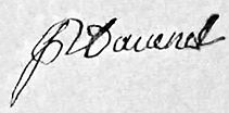 Signature de Pierre Davenel, source Archives départementales
