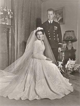 Mariage d'Eric Gille avec Odile Pinet, 14 octobre 1948, source archives familiales