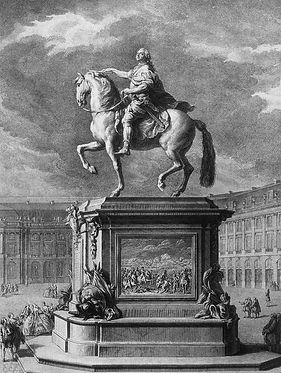Jean Baptiste Lemoyne, Statue équestre de Louis XV