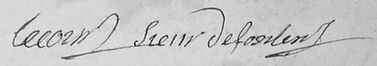 Signature de Ferdinand Lecourt, source archives départementales