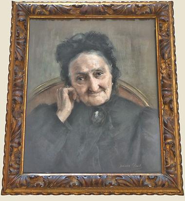 Pastel d'Antoinette Bonneau par Jeanne Leredu (1894), source X Gille