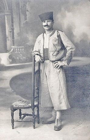 Baptiste Vidal en zouave (1917), source archives familiales