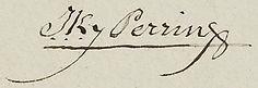 Signature de Jacques Perrin, source Archives municipales de Bordeaux