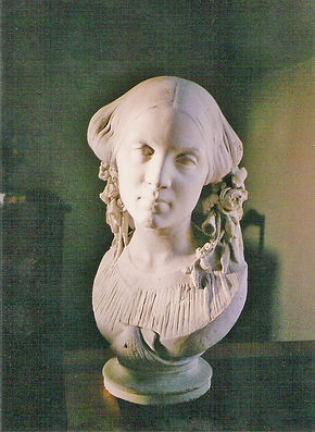 Buste d'Augustine Valet, source X Gille