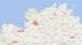 Carte des environs de Lannion