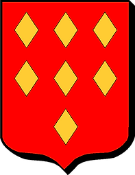 Armes de la famille Cadoëne-Gabriac (Gévaudan), source X Gille