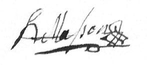 Signature d'Henri Masson, source archives de Belgique