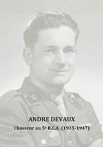 André Devaux Chasseur au 5e RCA par Xavier Gille