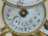 Pendule squelette Gille détail, source X Gille